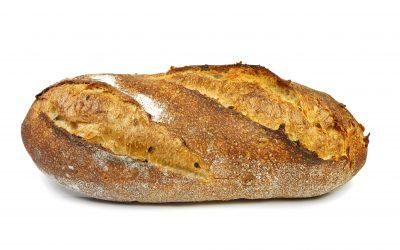 Pan ecológico elaborado con masa madre natural y harinas ecológicas.